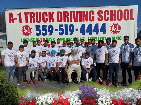 A1 truck driving school students photo