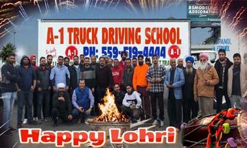 punjabi celebration photo A1 truck driving school